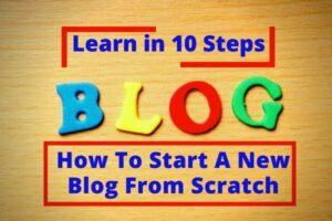start a new blog from scratch